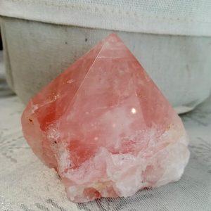 bloc brut en quartz rose