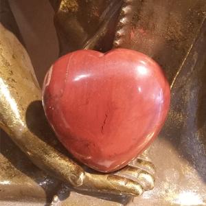 pierre jaspe rouge coeur