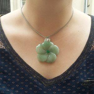 pendentif-aventurine-verte-fleur