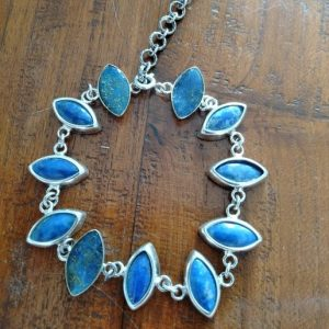 bracelet en lapis lazuli et argent